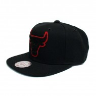 Mitchell & Ness Chicago Bulls Filter Snapback schwarz