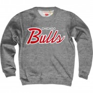 Mitchell & Ness - Chicago Bulls Sweater Lettering grau