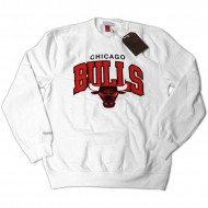 Mitchell & Ness - Chicago Bulls Team Arch Crewneck weiß