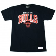 Mitchell & Ness - Chicago Bulls Team Arch Traditional T-Shirt schwarz
