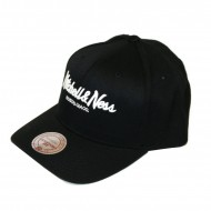 Mitchell & Ness Pinscript 110 Curved Snapback black