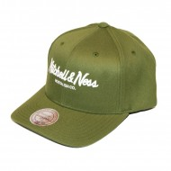 Mitchell & Ness Pinscript 110 Curved Snapback olive