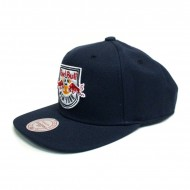 Mitchell & Ness Red Bulls New York Wool Solid Snapback Navy