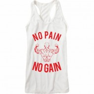 NPNG Tank Top / Racerback No Pain No Gain Weiss