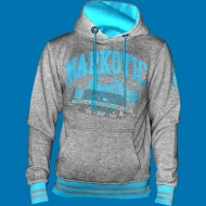 Narkotic Wear - Athletic Dept. Hoody grau/hellblau