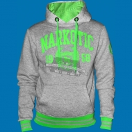 Narkotic Wear - Athletic Dept. Hoody grau/neongr�n