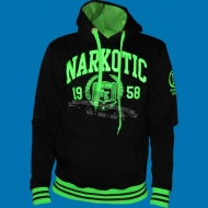 Narkotic Wear - Athletic Dept. Hoody schwarz/neongr�n