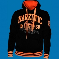 Narkotic Wear - Athletic Dept. Hoody schwarz/neonorange