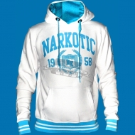 Narkotic Wear - Athletic Dept. Hoody weiss/hellblau