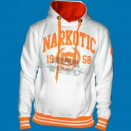 Narkotic Wear - Athletic Dept. Hoody weiss/neonorange