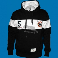 Narkotic Wear - Polo Club Hoody schwarz/weiss