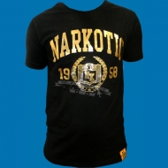 Narkotic Wear - Since 1958 T-Shirt schwarz/gold