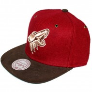 Phoenix Coyotes Strapback Brown Winter Suede | NHL | Mitchell & Ness