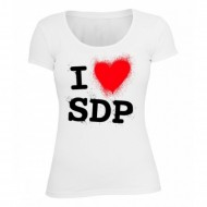 SDP - I love SDP Girlie Top weiß