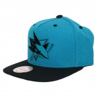 San Jose Sharks Team Sonic Snapback | NHL | Mitchell & Ness