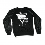 Silla Logo Sweatshirt Leathersleeves