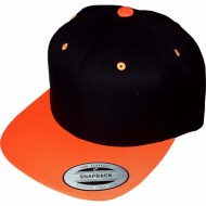 Snapback Cap schwarz/orange