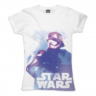 Star Wars - Phasma Galaxy Girlie Shirt weiß