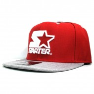 Starter - Snapback Cap Icon 3Tone red/grey