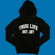 Thug Life - ''College Group'' Hoody schwarz