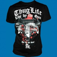 Thug Life - Die by the gun! T-Shirt schwarz