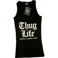 Thug Life Ladies Tanktop Old English schwarz