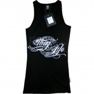Thug Life Ladies Tanktop Skull Group schwarz/weiß
