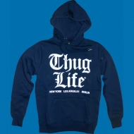 Thug Life - Old English Hoody navy
