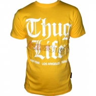 Thug Life - Old English T-Shirt yellow/white L