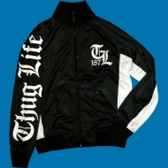 Thug Life - Old English Track Jacket schwarz