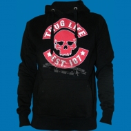 Thug Life - Skull Hoody black/white/red