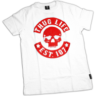 Thug Life - Skull Shirt white/red