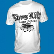 Thug Life - Street Fighting T-Shirt weiss