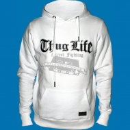 Thug Life - Street Fighting leather Hoody weiss
