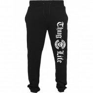 Thug Life Sweatpants Old English schwarz