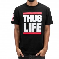 Thug Life  T-Shirt Bigfight in schwarz