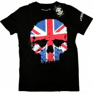 Thug Life T-Shirt UK Skull Flag