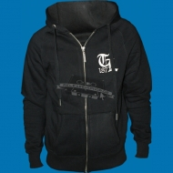 Thug Life Ziphoody - Old English Full Zip Hooded Sweater