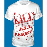 Toony - Kill all Fakers T-Shirt weiss