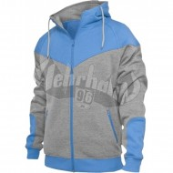 Urban Classics - Arrow Sweat Zip Hoodie grau/türkise