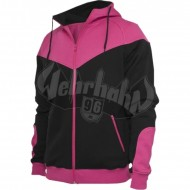 Urban Classics - Arrow Sweat Zip Hoodie schwarz/fuchsia