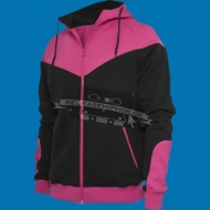 Urban Classics - Arrow Sweat Zip Hoody schwarz/fuchsia