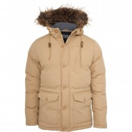 Urban Classics - Chambray Lined Parka beige