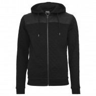 Urban Classics - Diamond Leather Imitation Shoulder Zip Hoodie