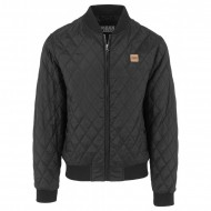 Urban Classics - Diamond Quilt Honeycomb Jacket schwarz