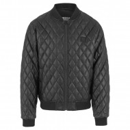 Urban Classics - Diamond Quilt Leather Imitation Jacket schwarz