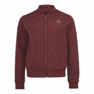 Urban Classics - Diamond Quilt Nylon Jacket burgundy