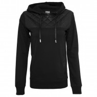Urban Classics - Ladies Leather Imitation Shoulder Hoodie