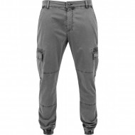 Urban Classics - Washed Cargo Twill Jogging Pants grey