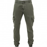 Urban Classics - Washed Cargo Twill Jogging Pants olive